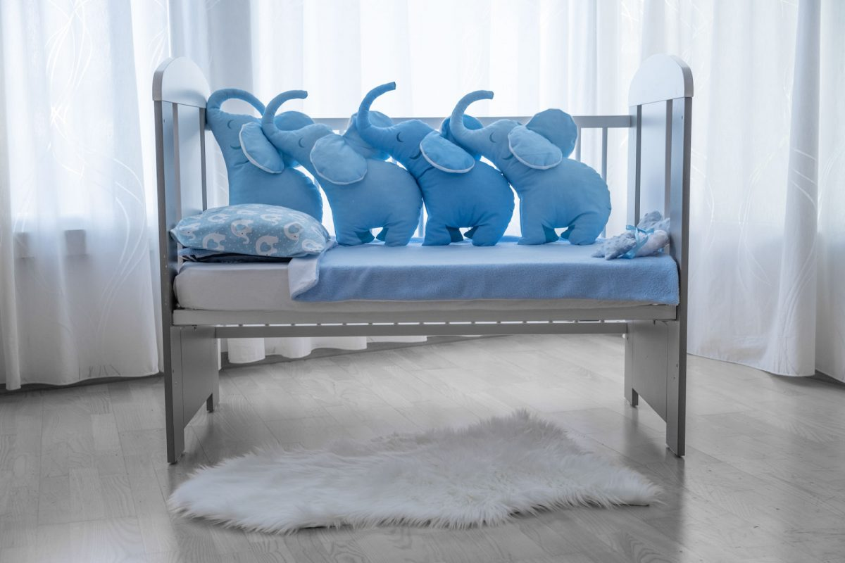 4D Jastuk ogranica plavi slonko bonbonko KODA7593 babysleepigloo.hr