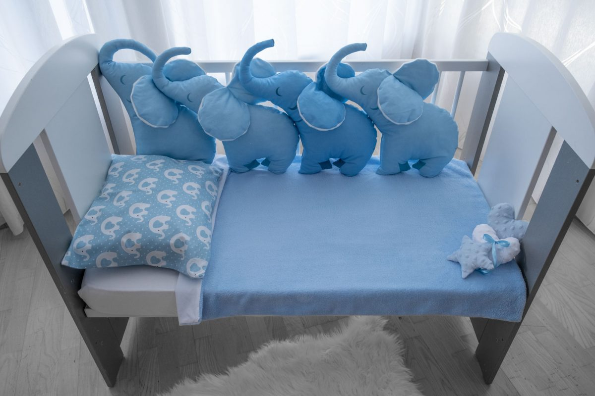 4D Jastuk ogranica plavi slonko bonbonko KODA7598 babysleepigloo.hr