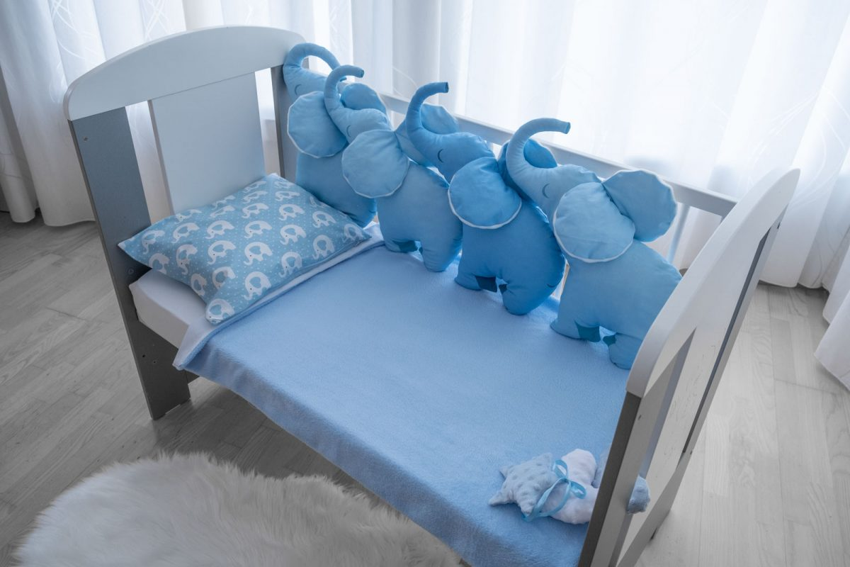 4D Jastuk ogranica plavi slonko bonbonko KODA7599 babysleepigloo.hr