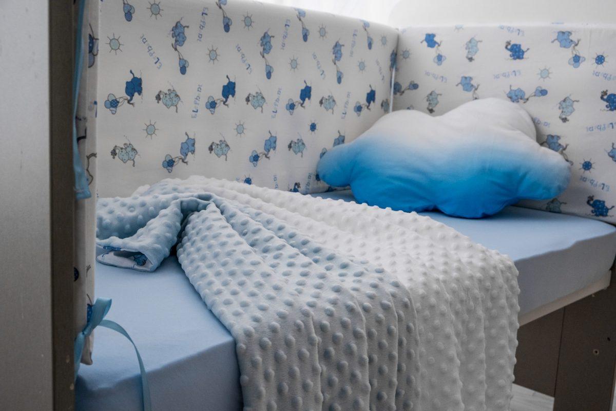 dekica plavi i bijeli minky KODA3523 dekica 3 u 1 minky babysleepigloo.hr 47RED